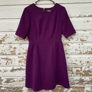 Vince Camuto Purple Dress W/Pockets Size 6